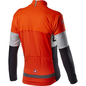 Castelli Prologo Jacke Herren orange/silver grey/dark grey